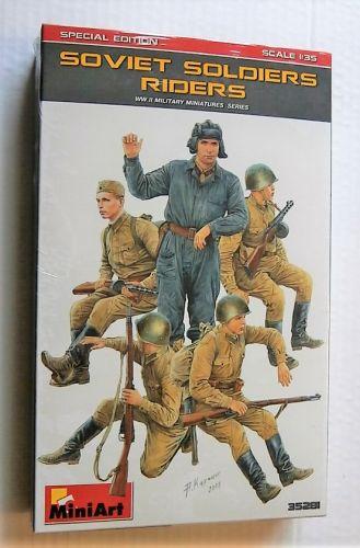 MINIART 1/35 35281 SOVIET SOLDIERS RIDERS