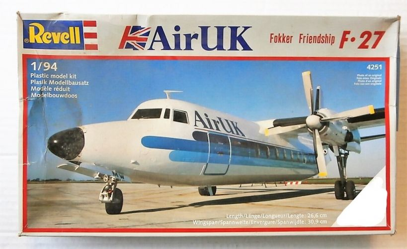 REVELL 1/94 4251 F-27 FOKKER FRIENDSHIP AIR UK