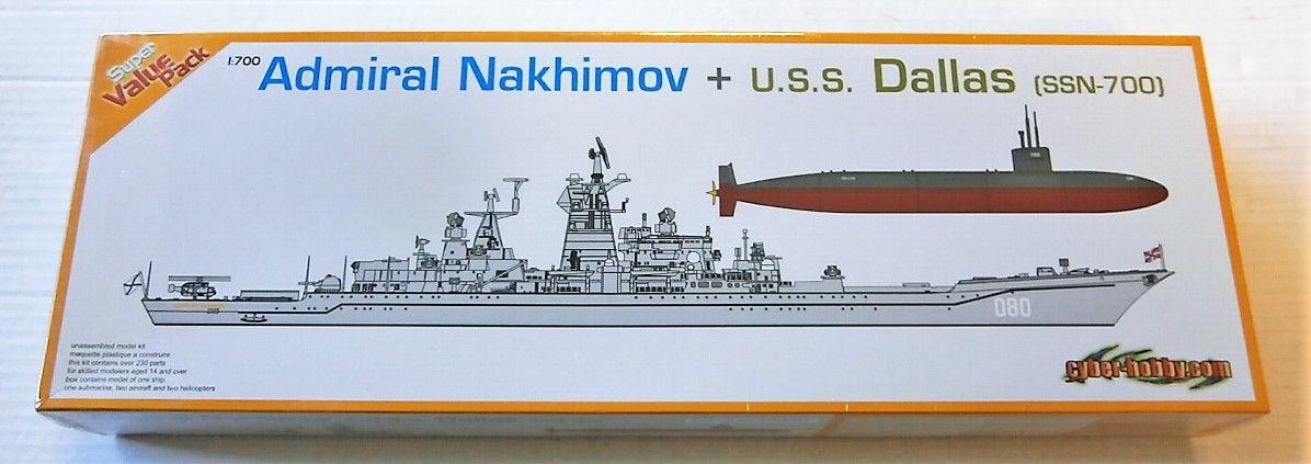 CYBER-HOBBYCOM 1/700 7112 ADMIRAL NAKHIMOV AND U.S.S. DALLAS  SSN-700