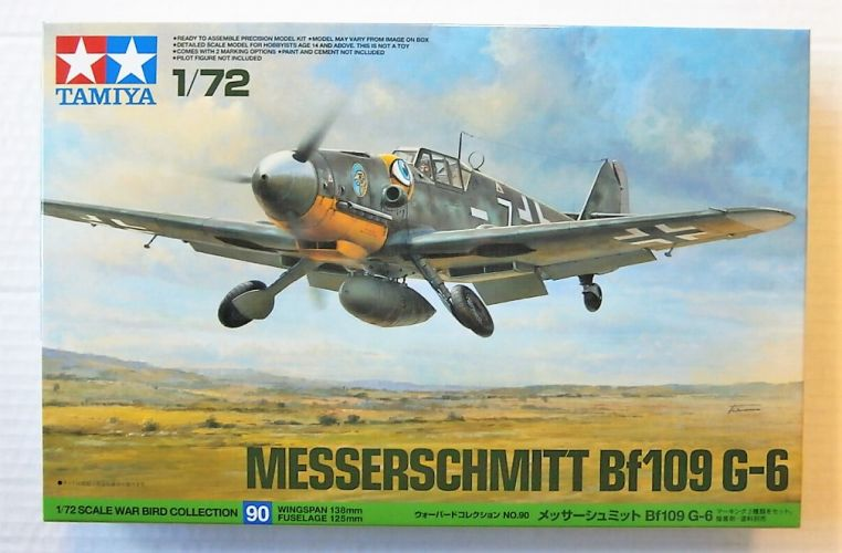 TAMIYA 1/72 60790 MESSERSCHMITT Bf109 G-6