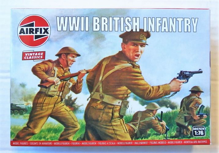 AIRFIX 1/76 A00763V VINTAGE CLASSICS - WWII BRITISH INFANTRY