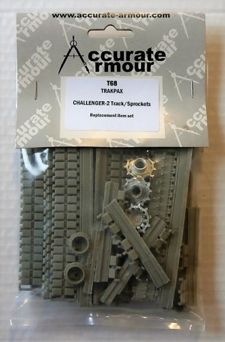 ACCURATE ARMOUR 1/35 T68 CHALLENGER-2 TRACK/SPROCKETS - TRAKPAX
