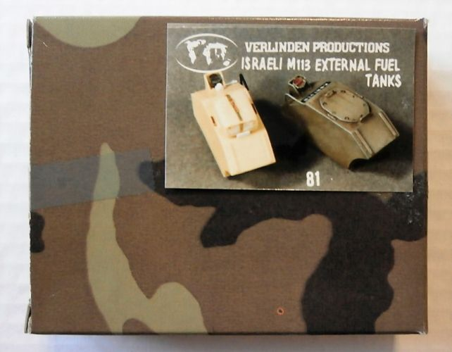 VERLINDEN PRODUCTIONS 1/35 81 ISRAELI M113 EXTERNAL FUEL TANKS