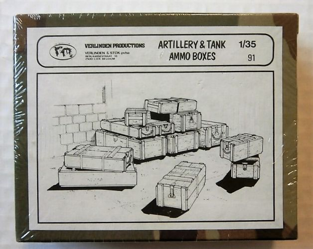 VERLINDEN PRODUCTIONS 1/35 91 ARTILLERY   TANK AMMO BOXES