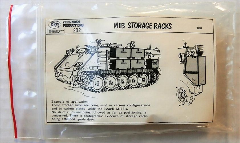 VERLINDEN PRODUCTIONS 1/35 202 M113 STORAGE RACKS
