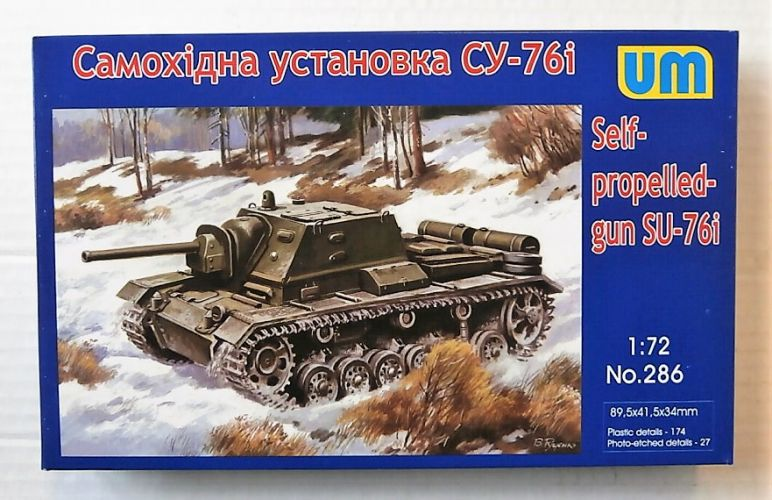 UNIMODEL 1/72 286 SU-76i SELF-PROPELLED GUN