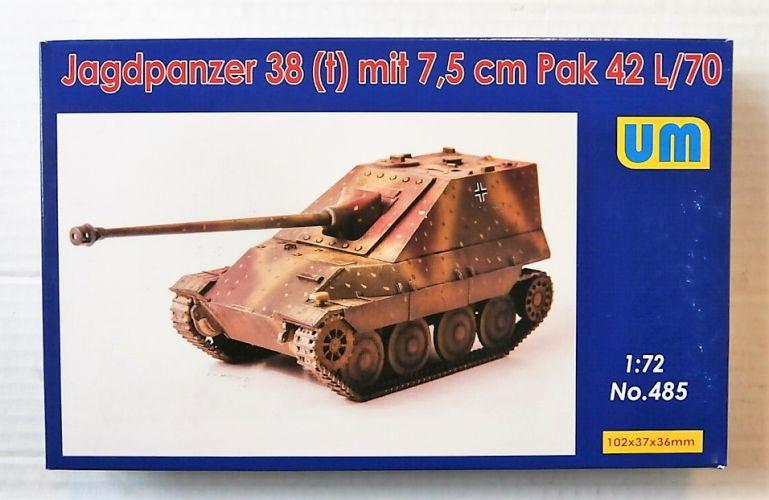UNIMODEL 1/72 485 JAGDPANZER 38 t  WITH 7.5CM PAK 42 L/70