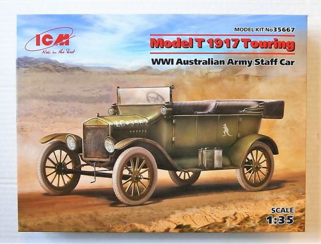 ICM 1/35 35667 MODEL T 1917 TOURING WWI AUSTRALIAN ARMY STAFF CAR