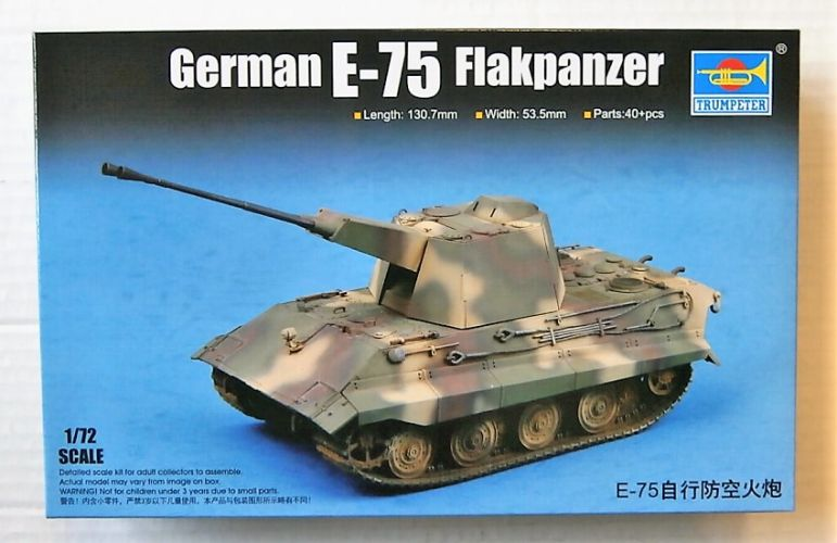 TRUMPETER 1/72 07126 GERMAN E-75 FLAKPANZER