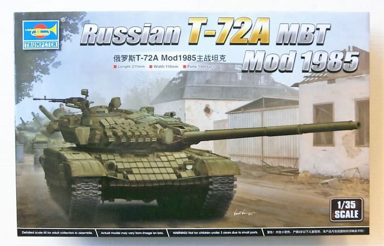 TRUMPETER 1/35 09548 RUSSIAN T-72A MBT MOD 1985  UK SALE ONLY