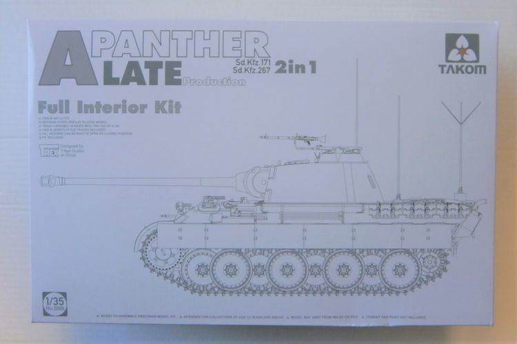 TAKOM 1/35 2099 Sd.Kfz 171/267 PANTHER A LATE W/ INTERIOR 2 IN 1