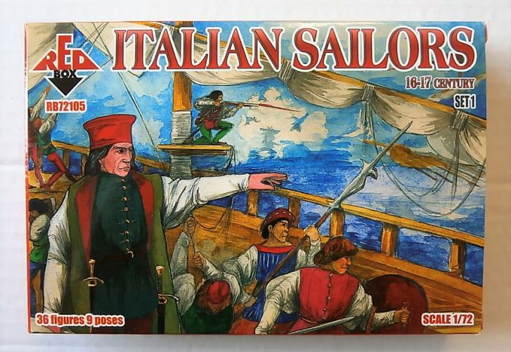 RED BOX 1/72 72105 ITALIAN SAILORS 16-17 CENTURY SET 1