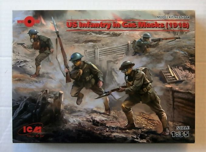 ICM 1/35 35704 US INFANTRY IN GAS MASKS 1918