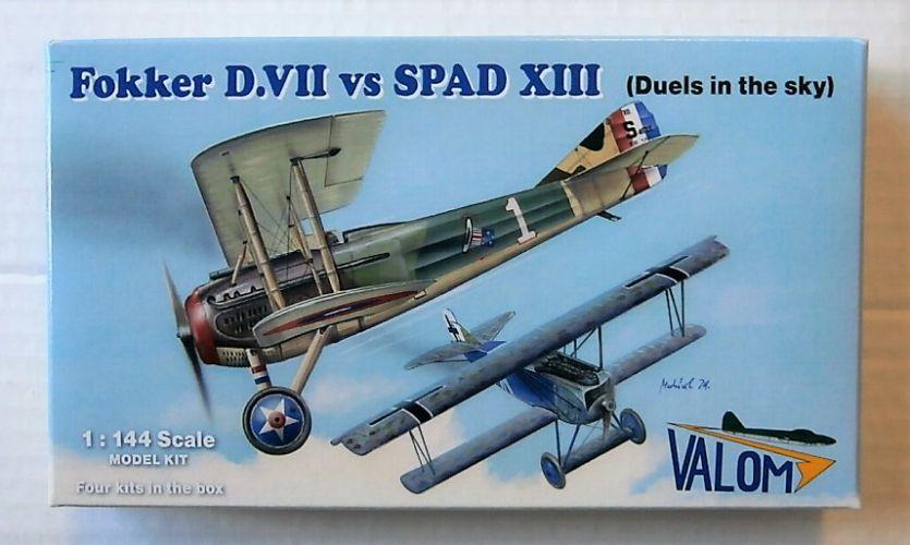 VALOM 1/144 14419 FOKKER D.VII vs SPAD XIII