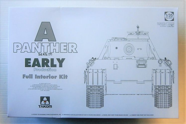 TAKOM 1/35 2097 Sd.Kfz 171 PANTHER A EARLY W/ INTERIOR