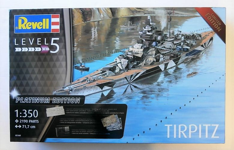 REVELL 1/350 05160 TIRPITZ PLATINUM/LIMITED EDITION  UK SALE ONLY
