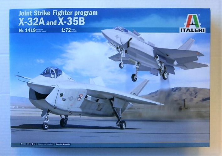 ITALERI 1/72 1419 X-32A AND X-35B JOINT STRIKE FIGHTER PROGRAM