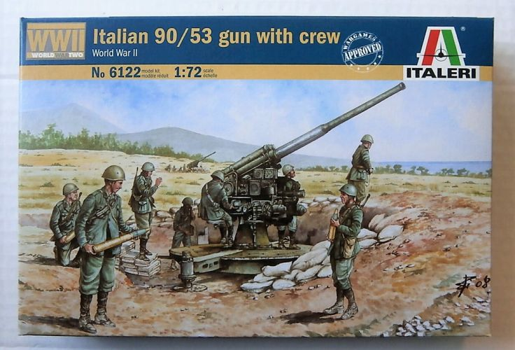 ITALERI 1/72 6122 ITALIAN 90/53 GUN   CREW