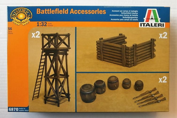 ITALERI 1/32 6870 BATTLEFIELD ACCESSORIES