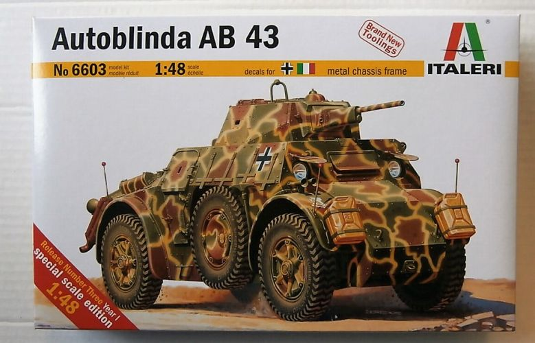 ITALERI 1/48 6603 AUTOBLINDA AB 43