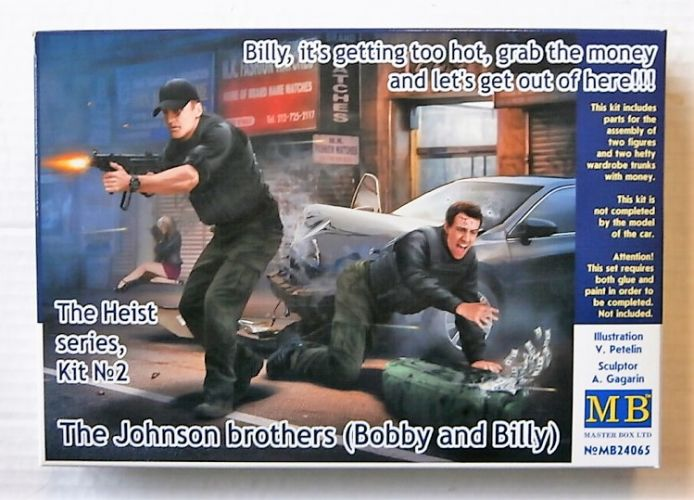 MASTERBOX 1/24 24065 THE HEIST SERIES KIT No 2  - BILLY ITS GETTING TOO HOT GRAB THE MONEY AND LETS GET OUT OF HERE. THE JOHNSON BROTHERS  BOBBY AND BILLY