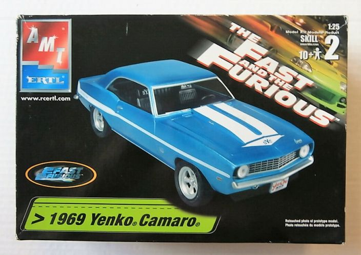 AMT 1/25 38032 1969 YENKO CAMARO THE FAST AND THE FURIOUS