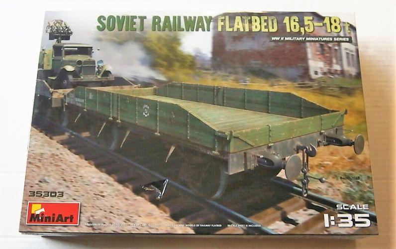 MINIART 1/35 35303 SOVIET RAILWAY FLATBED 16.5-18t