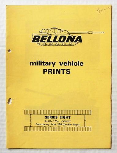 BELLONA VEHICLE PRINTS  SERIES 8 SD.KFZ.173s COMET SUPER HEAVY TANK T28