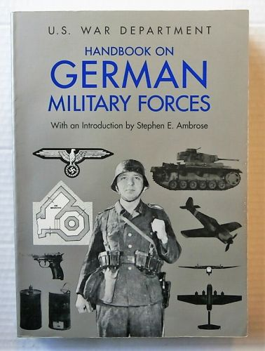 CHEAP BOOKS  ZB2681 U.S. WAR DEPARTMENT HANDBOOK ON GERMAN MILITARY FORCES  UK SALE ONLY