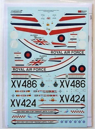 XTRADECAL 1/72 72297 RAF McDONNELL DOUGLAS PHANTOM FGR.2 ALCOCK   BROWN SCHEME