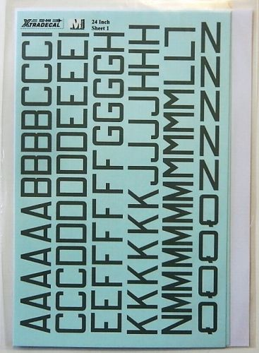 XTRADECAL 1/32 32046 RAF WWII MED. SEA GREY LETTERS AND NUMBERS 24