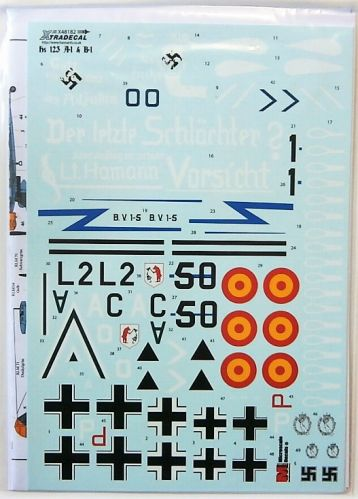 XTRADECAL 1/48 48182 HENSCHEL HS 123 A1 AND B1