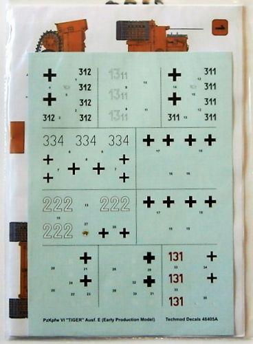 TECHMOD 1/48 2320. 48405 PzKpfw VI TIGER Ausf. E  EARLY PRODUCTION MODEL