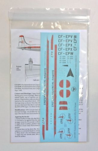 THUNDERBIRD MODELS 1/144 144-003 EASTERN PROVINCAL AIRWAYS ATL-98 CARVAIR