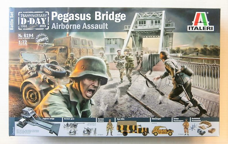 ITALERI 1/72 6194 PEGASUS BRIDGE AIRBORNE ASSAULT BATTLE SET
