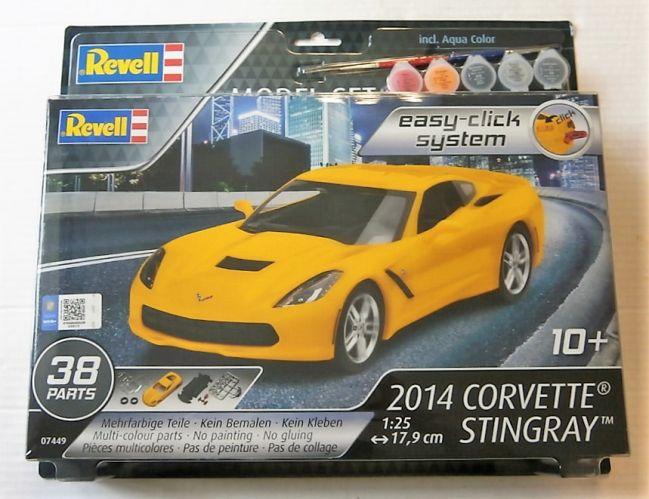 REVELL 1/25 67449 2014 CORVETTE STINGRAY MODEL SET