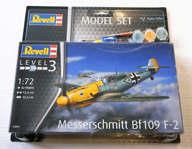 REVELL 1/72 63893 MESSERSCHMITT BF109 F-2 MODEL SET