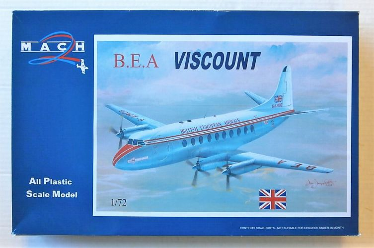 MACH 1/72 GP104 B.E.A. VISCOUNT