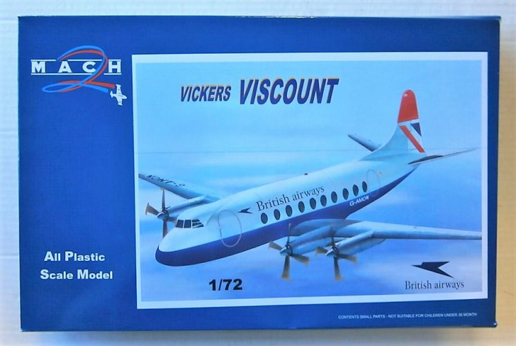 MACH 1/72 GP102 VICKERS VISCOUNT BRITISH AIRWAYS