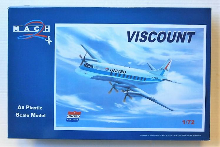 MACH 1/72 GP101 UNITED AIRLINES VISCOUNT
