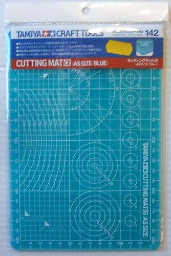 TAMIYA  74142 CUTTING MAT  A5 BLUE