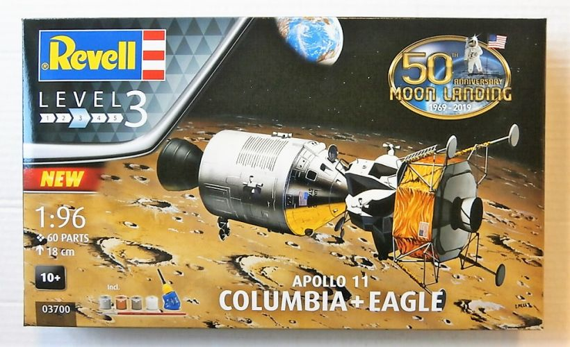 REVELL 1/96 03700 APOLLO 11 COLUMBIA   EAGLE 50TH ANNIVERSARY OF THE MOON LANDING