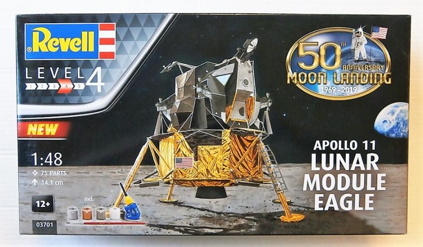 REVELL 1/48 03701 APOLLO 11 LUNAR MODULE EAGLE 50TH ANNIVERSARY OF THE MOON LANDING