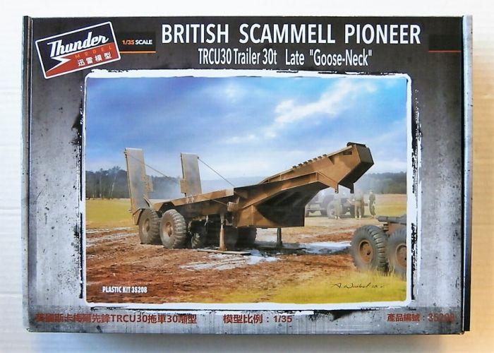 THUNDER MODEL 1/35 35208 BRITISH SCAMMELL PIONEER TRCU30 TRAILER 30t GOOSE-NECK