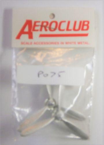 AEROCLUB 1/72 P075 MOSQUITO PADDLE BLADE PROPS 12 6 DIA L/H