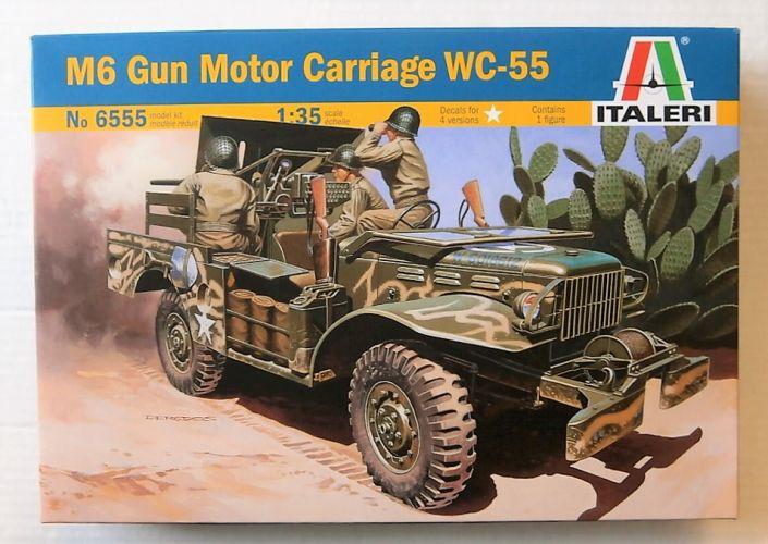 ITALERI 1/35 6555 M6 GUN MOTOR CARRIAGE WC-55