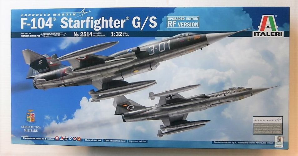 ITALERI 1/32 2514 F-104 STARFIGHTER G/S UPGRADED EDITION RF VERSION  UK SALE ONLY