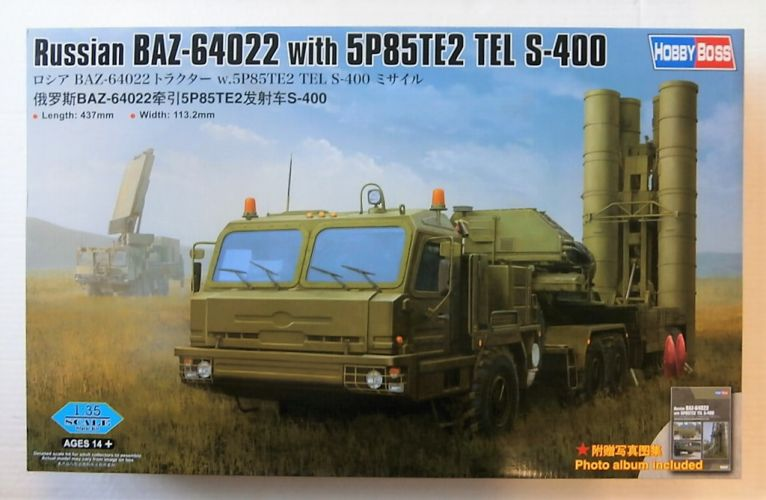 HOBBYBOSS 1/35 85517 RUSSIAN BAZ-64022 WITH 5P85TE2 TEL S-400  UK SALE ONLY