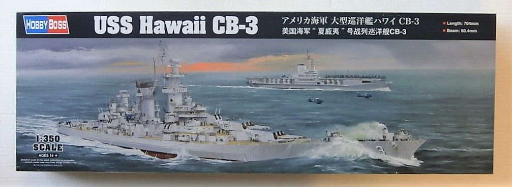 HOBBYBOSS 1/350 86515 USS HAWAII CB-3  UK SALE ONLY