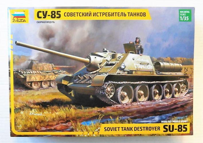 ZVEZDA 1/35 3690 SU-85 SOVIET TANK DESTROYER